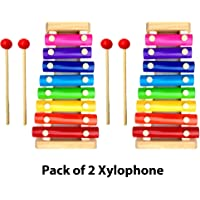 Little Monkey Wood Xylophone Musical Toy for Children with 8 Note Big Size (Pack of 2)