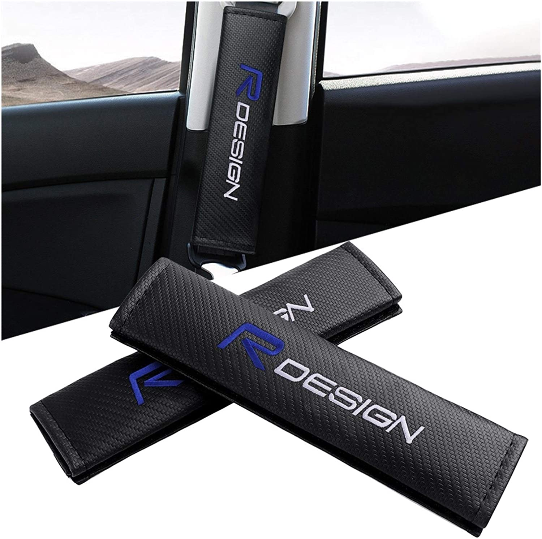 Guaine per cintura di sicurezza Car Styling 2Pcs cintura di sicurezza dellautomobile coprisedili Belt Caso Rdesign ricamo logo compatibile con il design Volvo XC90 R S60 CX60 V70 XC70 V60 V90 Morbido