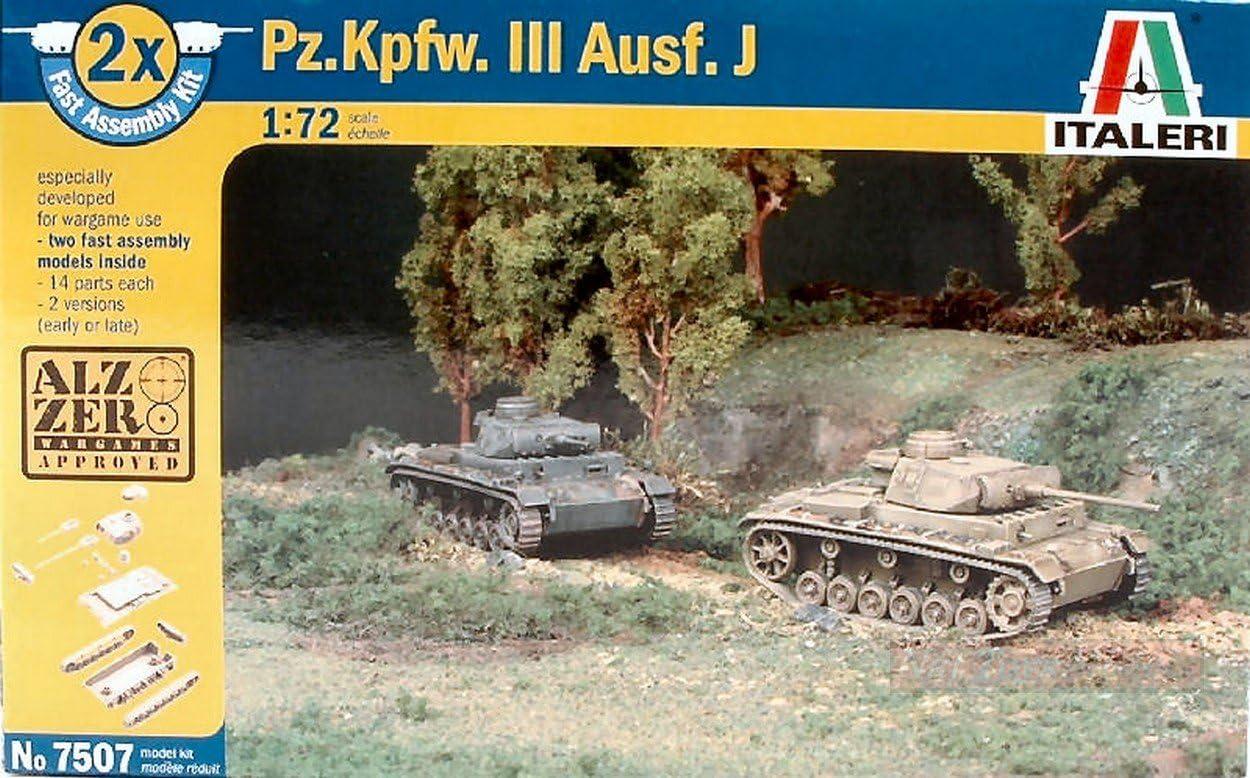 Italeri IT7507 CARRO ARMATO PZ KPFW AUSF J KIT 1:72 MODELLINO Model kompatibel mit