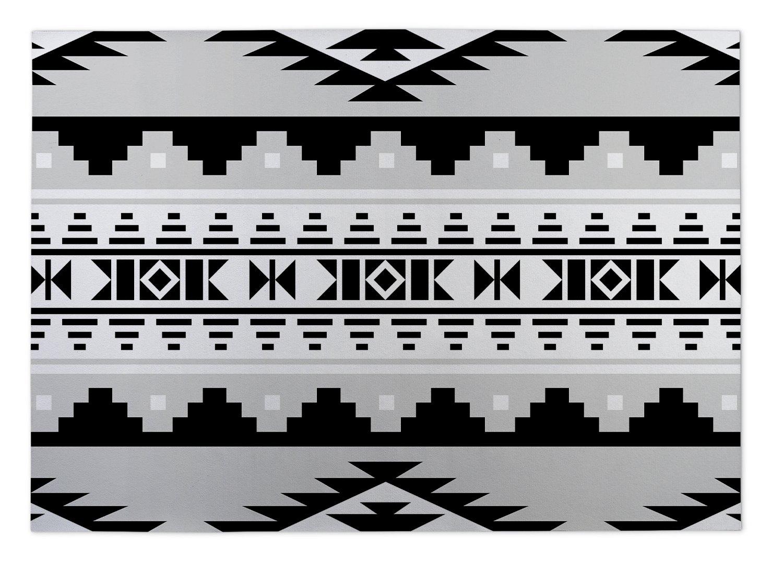 MGTAVC2004FM23 Size: 24x36x0.2 - - NAVAJO Collection Grey KAVKA Designs Navajo Indoor-Outdoor Floor Mat,