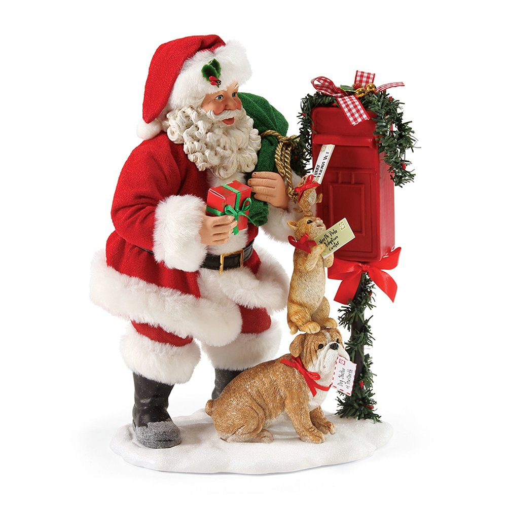 Department 56 Possible Dreams Santa Claus ''Special Handing Required'' Clothtique Christmas Figurine