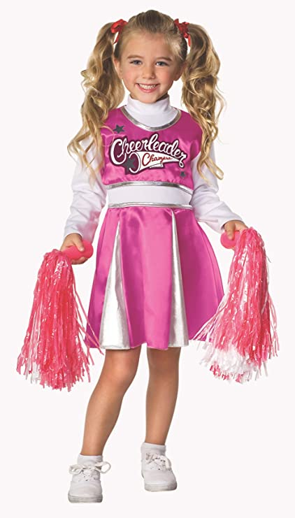 Letu0027s Pretend Childu0027s Cheerleader C& Costume ...  sc 1 st  Amazon.com & Amazon.com: Letu0027s Pretend Childu0027s Cheerleader Camp Costume Medium ...