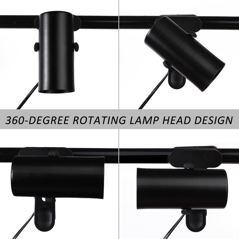 Wuhostam W-Heat Fixture Reptile Lamp Holder Clamp Adjustable Lamp Light Lizard Reptile Basking by Wuhostam (Image #4)