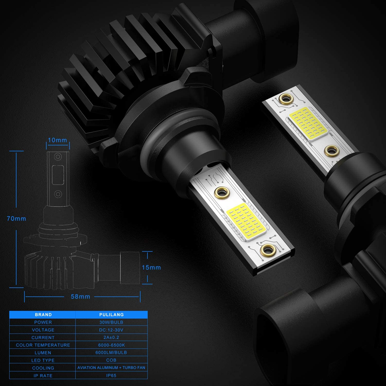 LED Headlight Bulbs H1 Led Car light 60W 12000Lumens Super Bright Waterproof Headlights Conversion Color temperature 6500K IP65 Pack of 2 /…