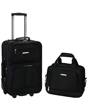 75f3bb8e2 Rockland Luggage 2 Piece Set, Black, Medium