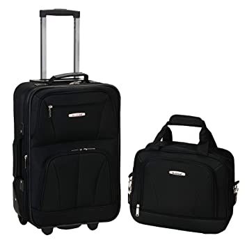 e1b48a9bf Amazon.com | Rockland Luggage 2 Piece Set, Black, Medium | Luggage Sets