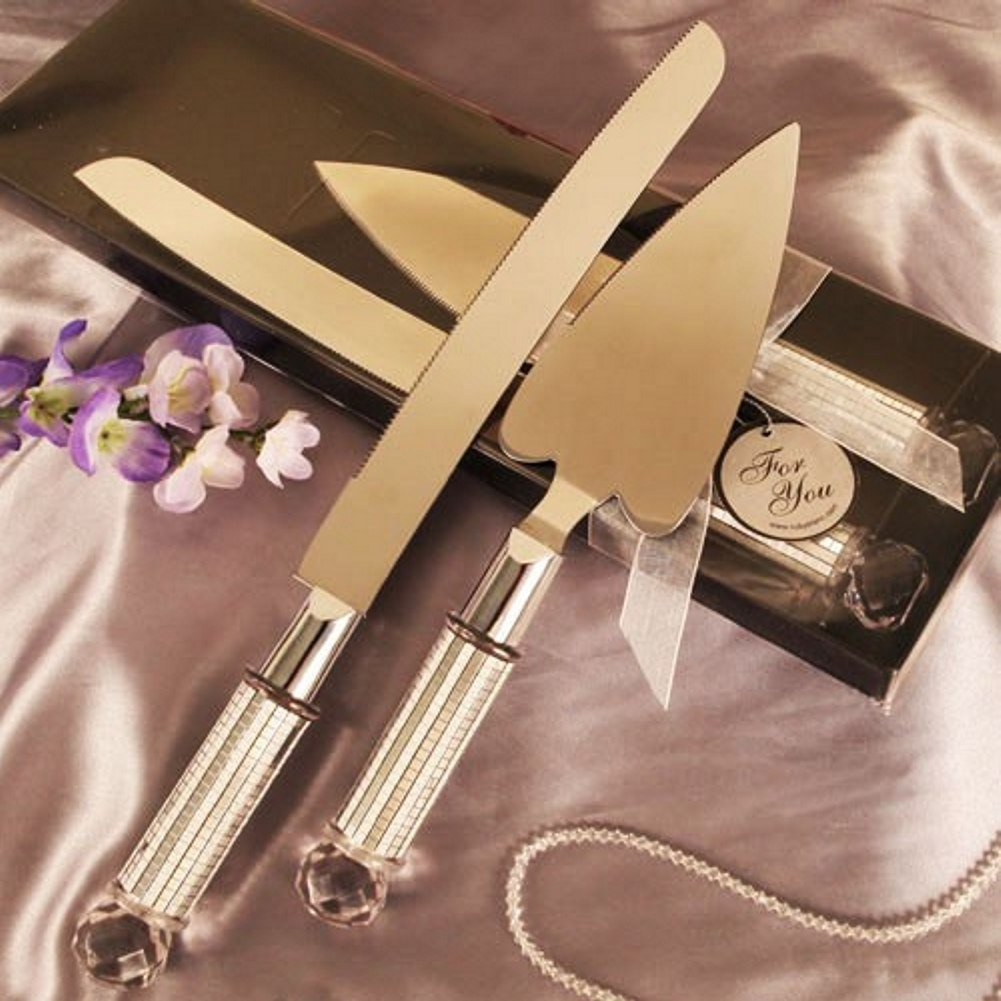 Heart Shaped Cake Server And Cake Knife Set - 36 Sets by R & B (Image #1)