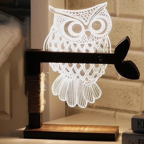 Iacon 3d Piccola Lampada Da Tavolo Visione Stereo Luci Camera Da