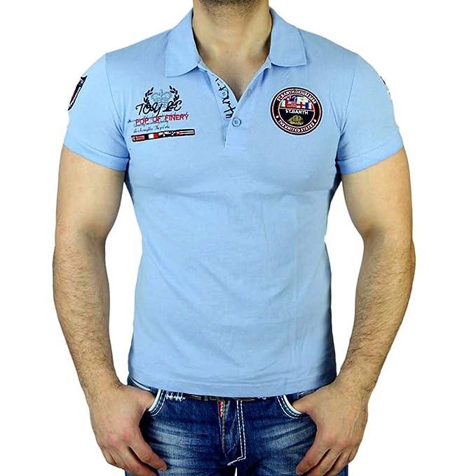 Baxboy St Barth Manga Corta Slim Fit - Camiseta para Hombre Polo ...