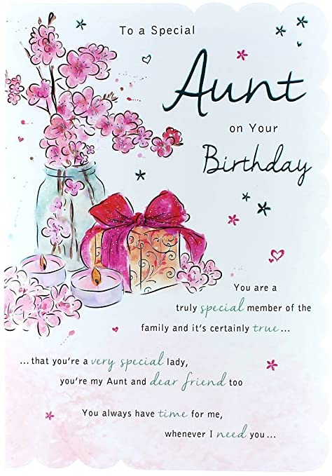 Stunning Top Range Wonderfully Worded 5 Verse To A Special Aunt