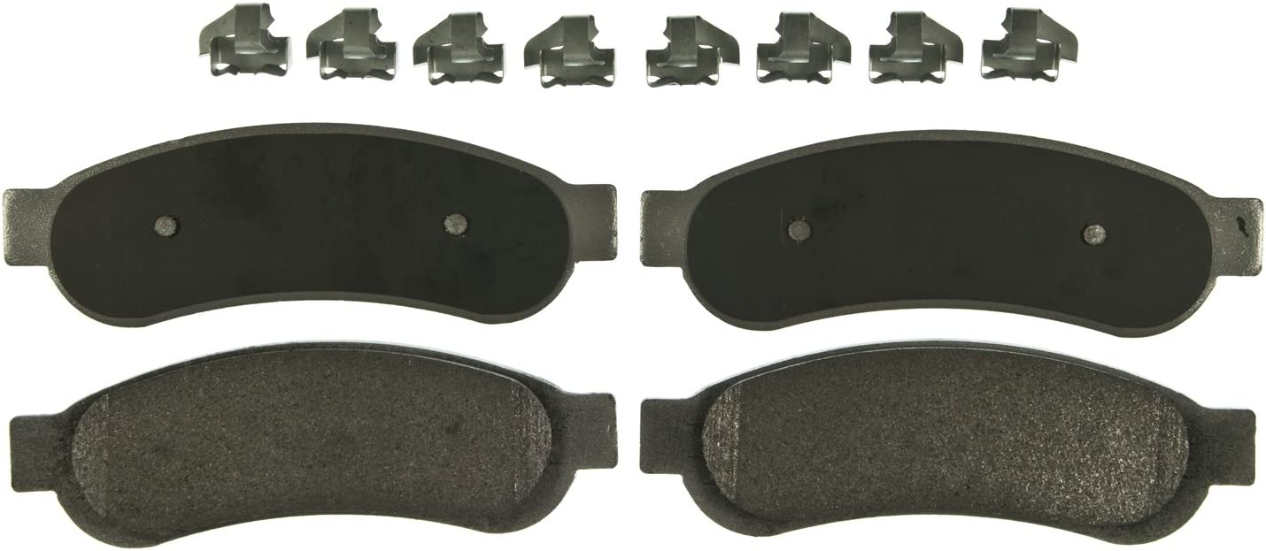 Wagner ThermoQuiet MX1334A Semi-Metallic Disc Pad Set With Installation Hardware Rear