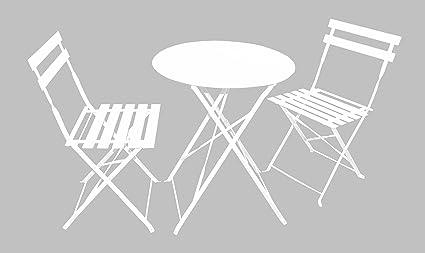Magna Homewares Bistro Metal Folding Outdoor, Indoor Table & Chairs Set