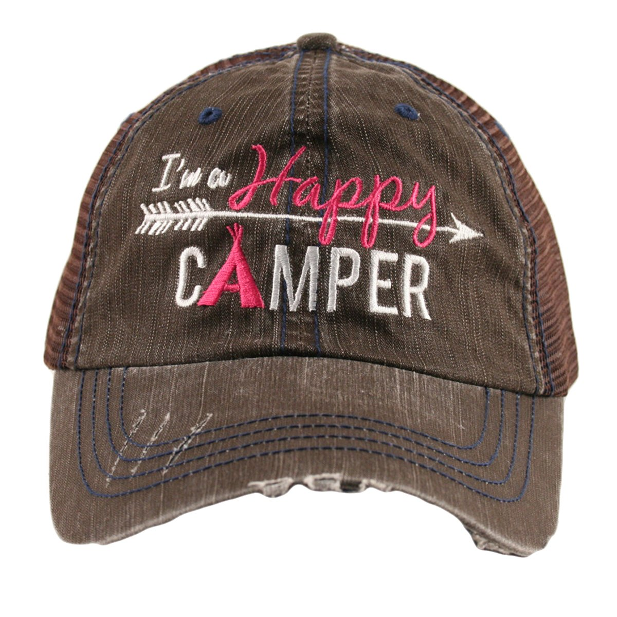 Katydid I'm A Happy Camper Women's Mesh Trucker Hat Cap KDC-TC-122