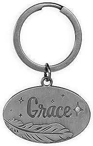 AngelStar Guardian Angel Feather Key Chain-Grace