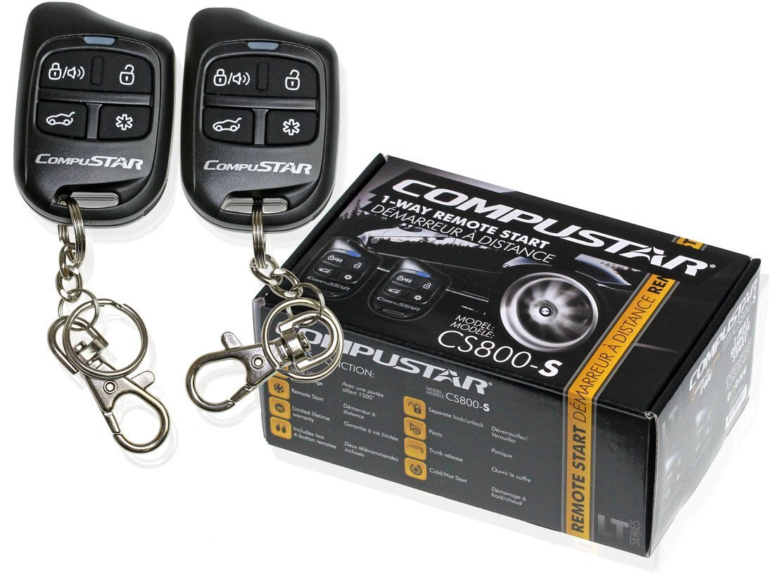 Compustar Cs800 S 1 Way Remote Start With 2 4 Button Auto Mobile Starter Kit Diagram Remotes 1000 Feet Range Cs800s Cell Phones Accessories