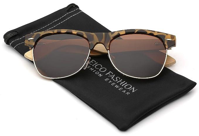 Amazon.com: Gafas de sol de madera de bambú polarizadas ...