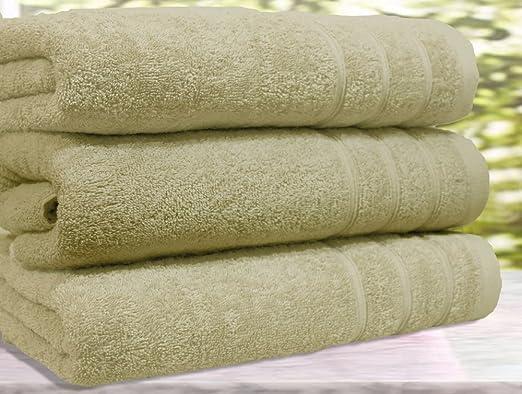 Casabella - Juego de 3 toallas de baño, algodón egipcio de 550 g ...