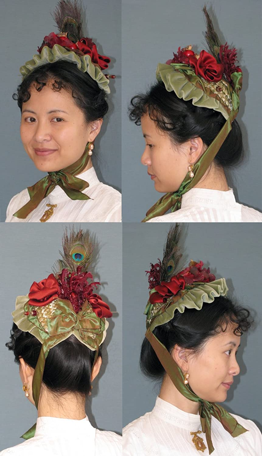 Guide to Victorian Civil War Costumes on a Budget 1885-1895 Late Victorian Small Bonnet Pattern $13.95 AT vintagedancer.com