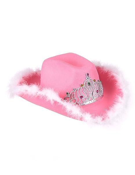 Cappello Cowgirl rosa per donna  Amazon.it  Giochi e giocattoli 91e320195126
