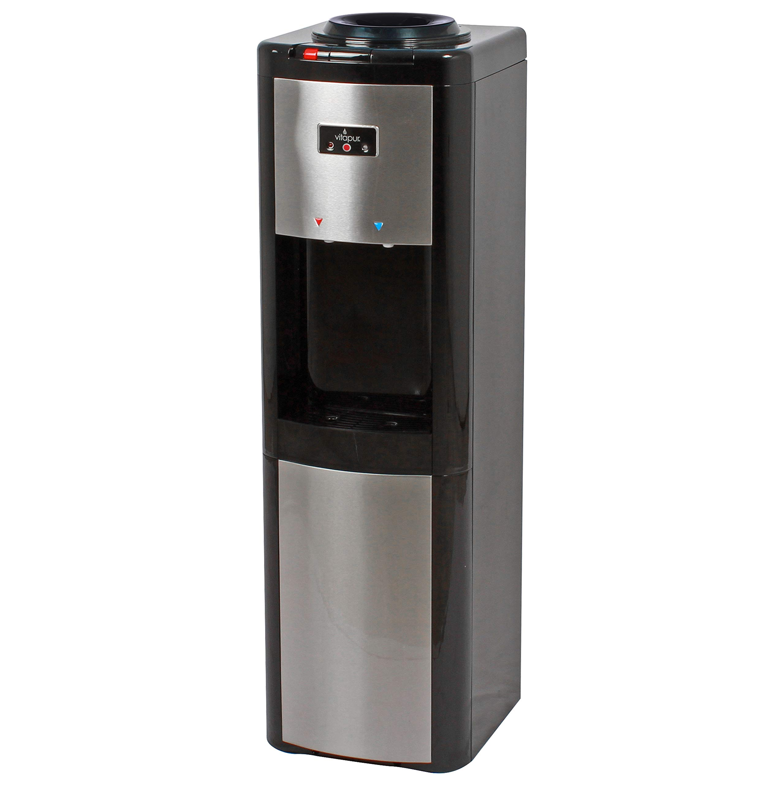 Vitapur VWD366BLS-K Top Load (Hot, Room and Cold) Black/Stainless Steel Water Dispenser one size