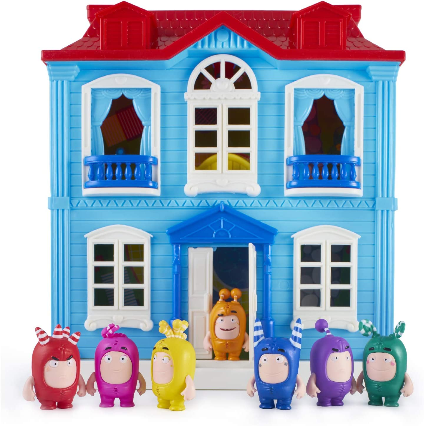 Oddbods Set of 7 Figures Toys Brand New