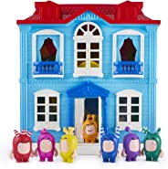 ODDBODS House Playset for Kids - Features Indoor and Outdoor Spaces with Furniture and 7 Figurines