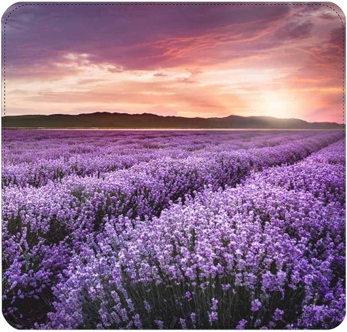 InterestPrint Sunflowers and Lavender Flowers Womens Clutch Wallet Large Wristlet Zipper Clutch Large Travel Purse