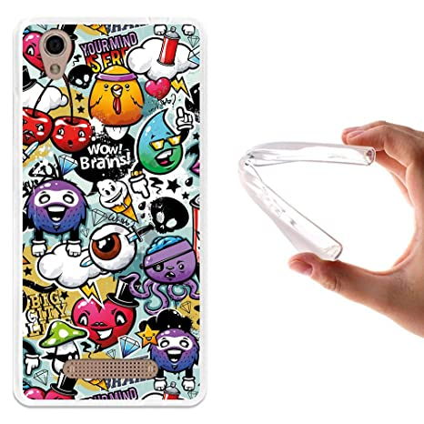 WoowCase - Funda Gel Flexible [ ZTE Blade A452 ] Grafiti de Colores Divertido Carcasa Case Silicona TPU Suave