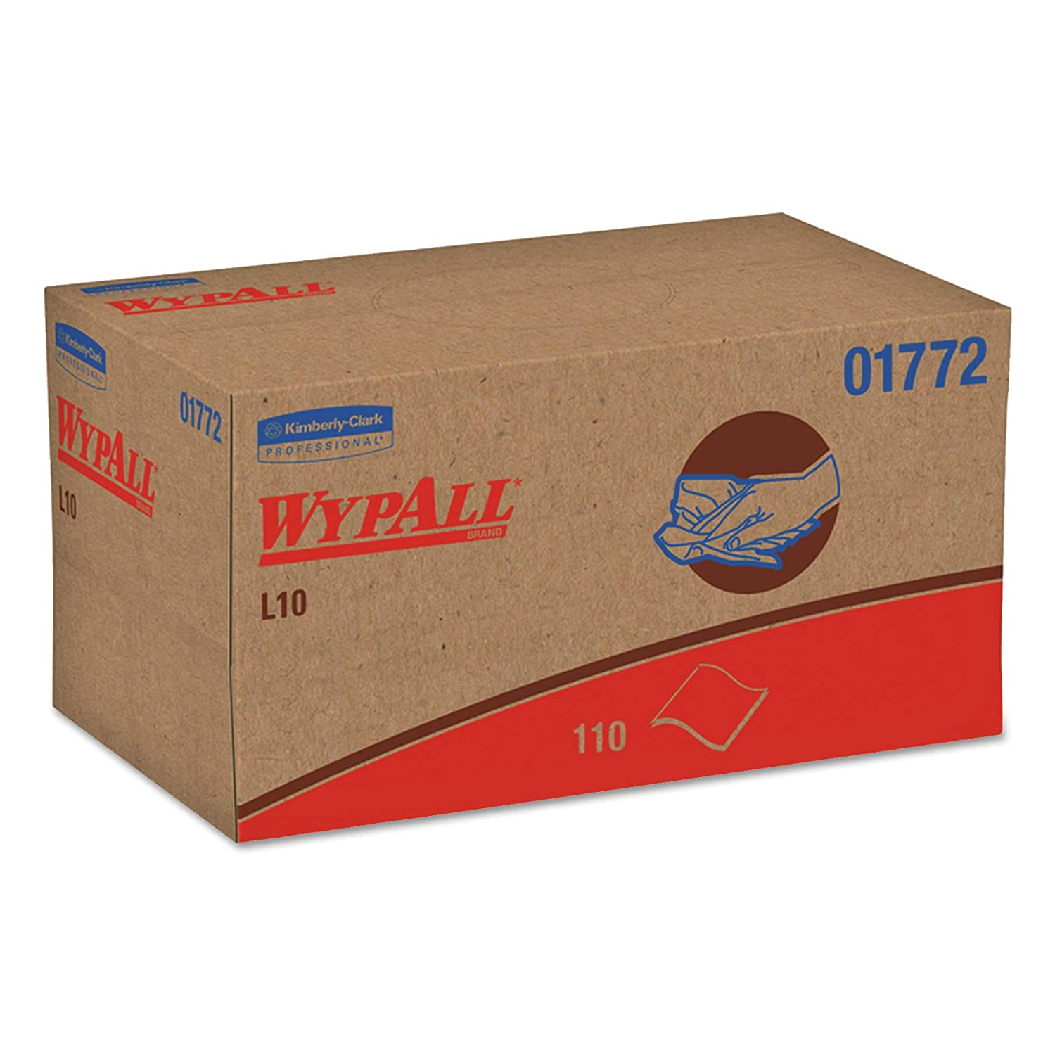 WypAll 01772 L10 SANI PREP Dairy Towels POP UP Box 1Ply 10 1 2x10 1 4 110 per Pack Case of 18 Packs