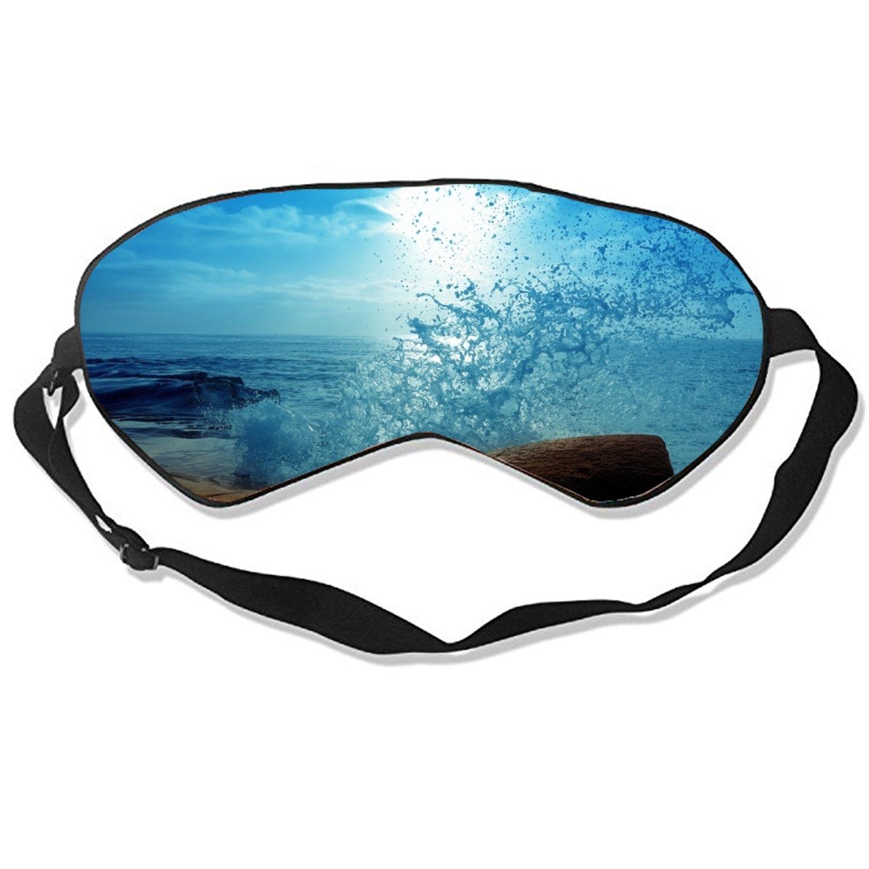 The Ocean Waves Sleep Eye Mask for Sleeping Contoured Eyemask Silk Best Night Blinder Eyeshade for Men Women Kids