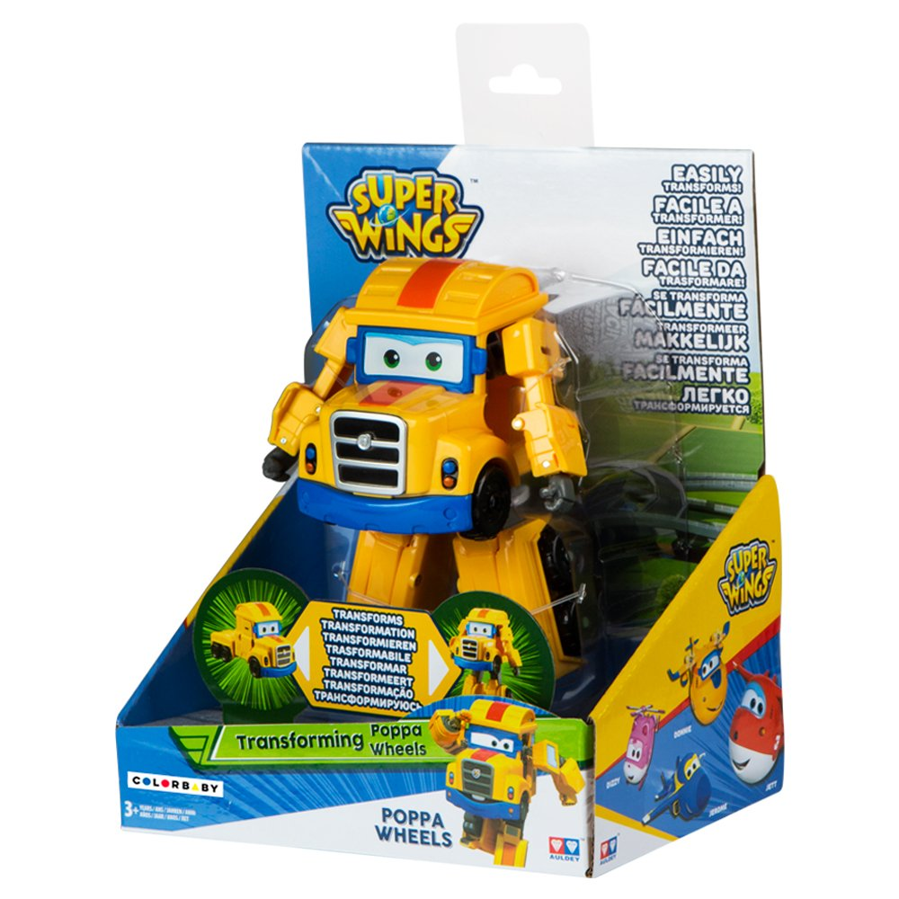 17 x 8 x 14 cm Poppa figura transformable Super Wings ColorBaby 85224 Super Wings