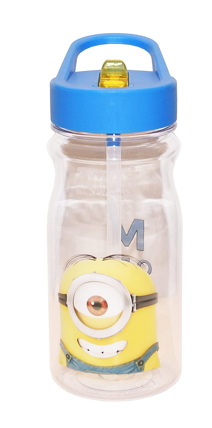 e6c55cbd50 Designs Tritan Water Bottle with Flip-Up Spout and Straw with Despicable Me  2 Minions Graphics, Break-resistant and BPA-free Plastic, 16.5 oz.