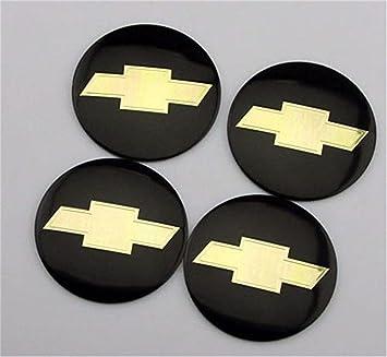 "lijuan218 Nuevo 4 x 56 mm 2.2"" Negro Emblema Insignia Decal Sticker Rueda Centro Tapacubos"