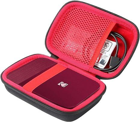 co2CREA Duro Viajar Caja Estuche Funda para Kodak Smile Cámara Digital de impresión instantánea(Caja Solo)(Negro Externo, Rojo Interior): Amazon.es: Electrónica