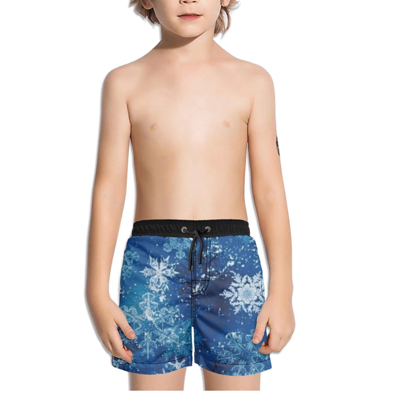 Ouxioaz Boys Swim Trunk Snowy Friends Snowflake Beach Board Shorts