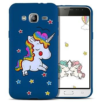 coque samsung j3 2016 licorne bleu