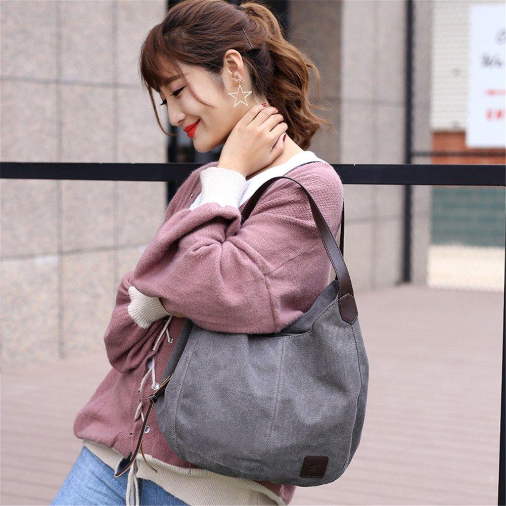 Hynbase Women Retro Korean Style Canvas Bag Fashion Purse