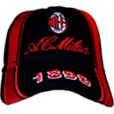 CAPPELLO CAPPELLINO A.C.MILAN UFFICIALE BERRETTO CAP nero con ... e1ab61dddcfa