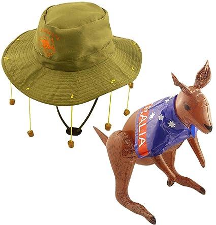 Unisex Adult Australian Hat W//10 Strung Corks Fancy Dress Party Cap Accessories