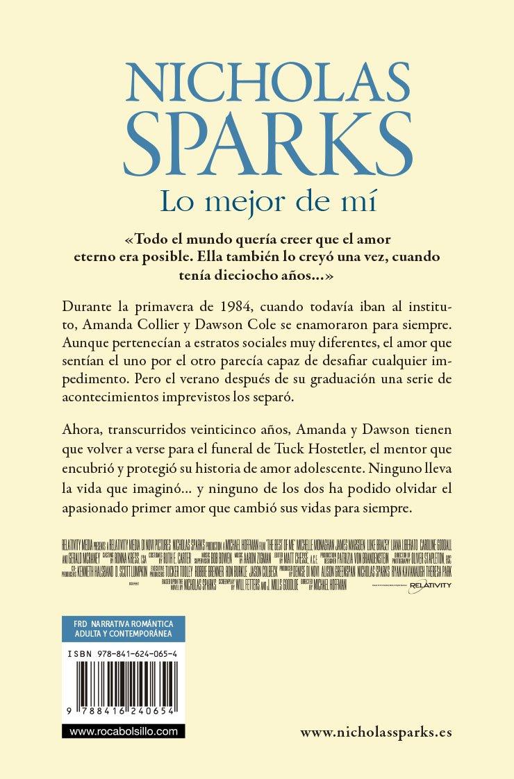 Lo mejor de mi spanish edition nicholas sparks 9788416240654 lo mejor de mi spanish edition nicholas sparks 9788416240654 amazon books fandeluxe Gallery