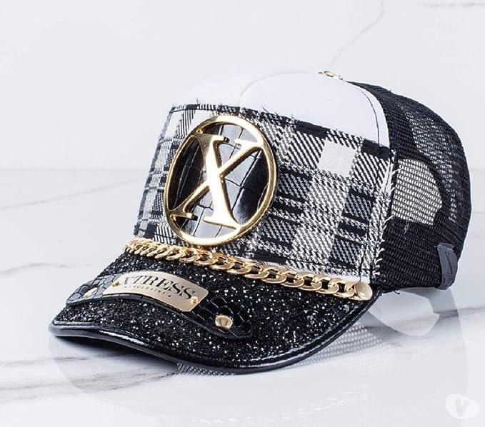Xtress Exclusive Gorra negra y blanca de diseño. Unisex: Amazon.es: Ropa y accesorios