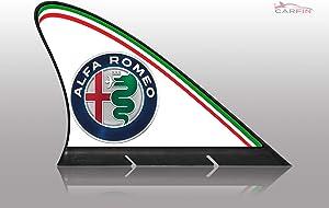 CARFIN Alfa Romeo CAR Flags, ALFA Romeo, Strong Magnetic Vehicle Shark fin Flag