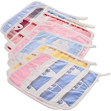 evedaily Toalla para bebé para Vómitos paños 8 unidades de 25 x 25 cm: Amazon.es: Bebé