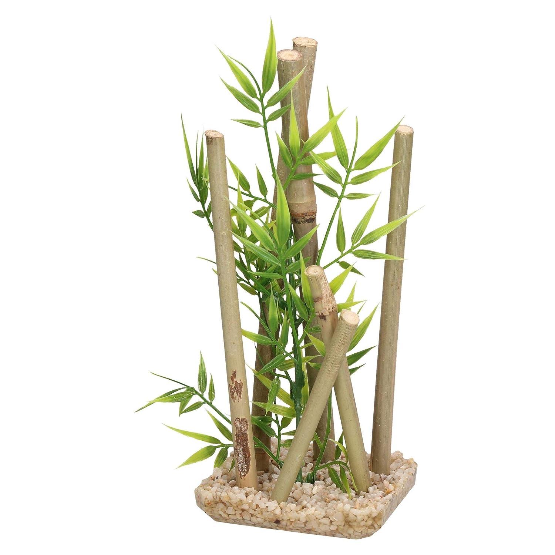 AB Tools Aquatic Aquarium Decor Bamboo Stick Medium Fish Tank Ornament 9x11x25cm
