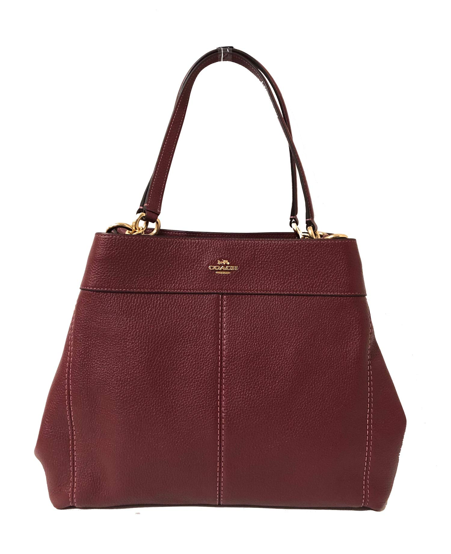 Coach F57545 Lexy Pebble Leather Shoulder Bag (IM/Wine)
