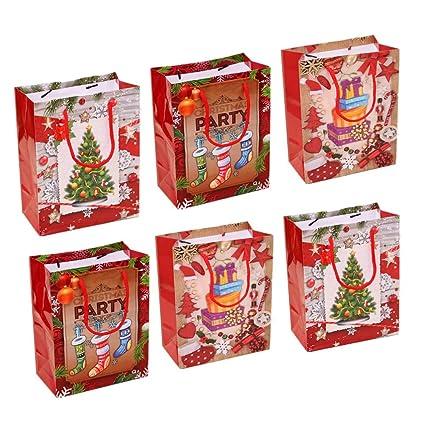 NUOBESTY bolsa de regalo de navidad - paquete de 6 bolsas de ...