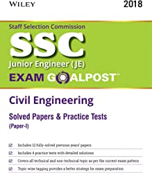 Wiley's SSC Junior Engineer (JE) Exam Goalpost Civil Engineering Solved Papers and Practice Tests (Paper - I)