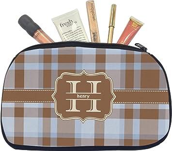 Brown Plaid Personalized Pencil Case