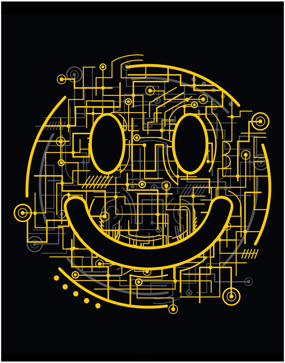 Funny and Inspirational STEM Art Print Quote - Happy Face Circuit Board - 11x14 Unframed Art Print - Great Gift For Science or Technology. Looks Great in an Office, School, Bedroom or Dorm.