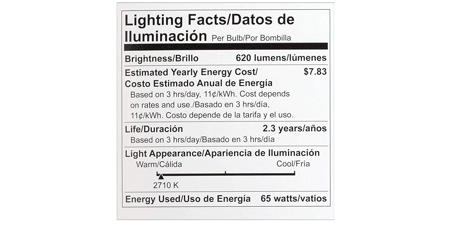 Philips 24876-5 - 65 Watt Light Bulb - BR30 - 2,000 Life Hours - 620 Lumens - 120 Volt